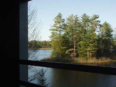 View of the Floodwood Pond area from the tourist train
