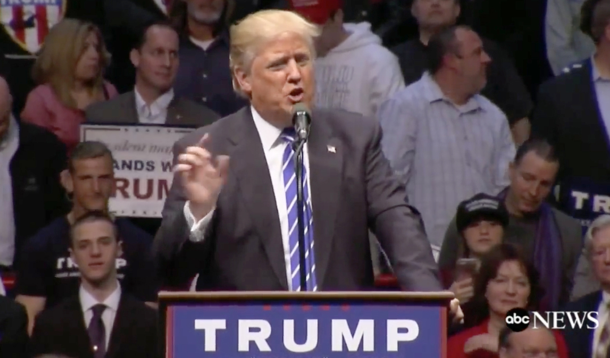 Trump packs Albany arena, promising upstate jobs and a
