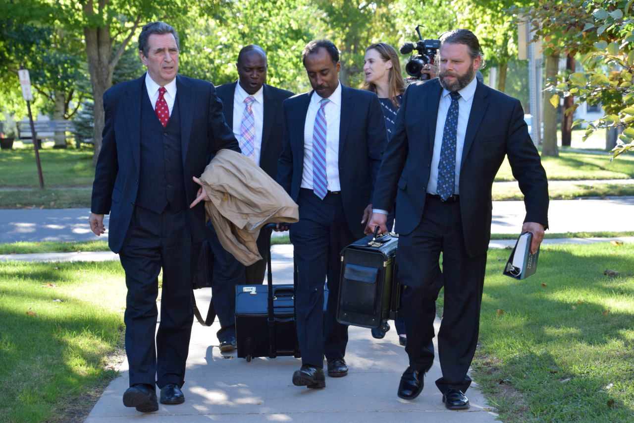 nick hillary trial resumes today in canton ncpr news oral nick hillary outside the st lawrence county courthouse last week his defense team photo brit hanson