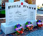 Newly unveiled Veteran's Memorial at Perley and Rideau Veterans' Health Centre, Ottawa.