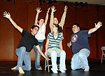 Cast members of the play written by SUNY Potsdam senior Lexy Nistico rehearse their dance scene