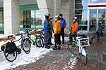 Winter cyclists in Ottawa brave the weather on their daily commutes. (Photo © Richard Guy Briggs)