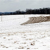 Manure spread on frozen ground runs off into rivers and streams during the thaw. Photo: USDA