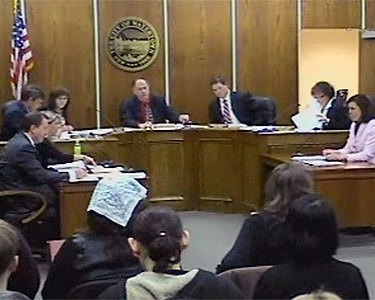 "Watertown City Council meeting on March 4, 2013. Watertown mayor Jeff Graham, presiding,  voted against making changes to the city's zoning code that essentially aimed to ban roommates. Photo: <a href=""http://www.steveweedproductions.com/WCC2013.php"">still from City Council video.</a>"