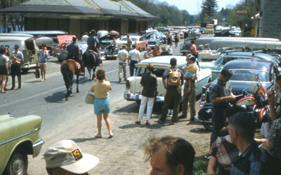 Gathering for the Derby near the Riparius Depot, 1961. Photo: Bob Clark