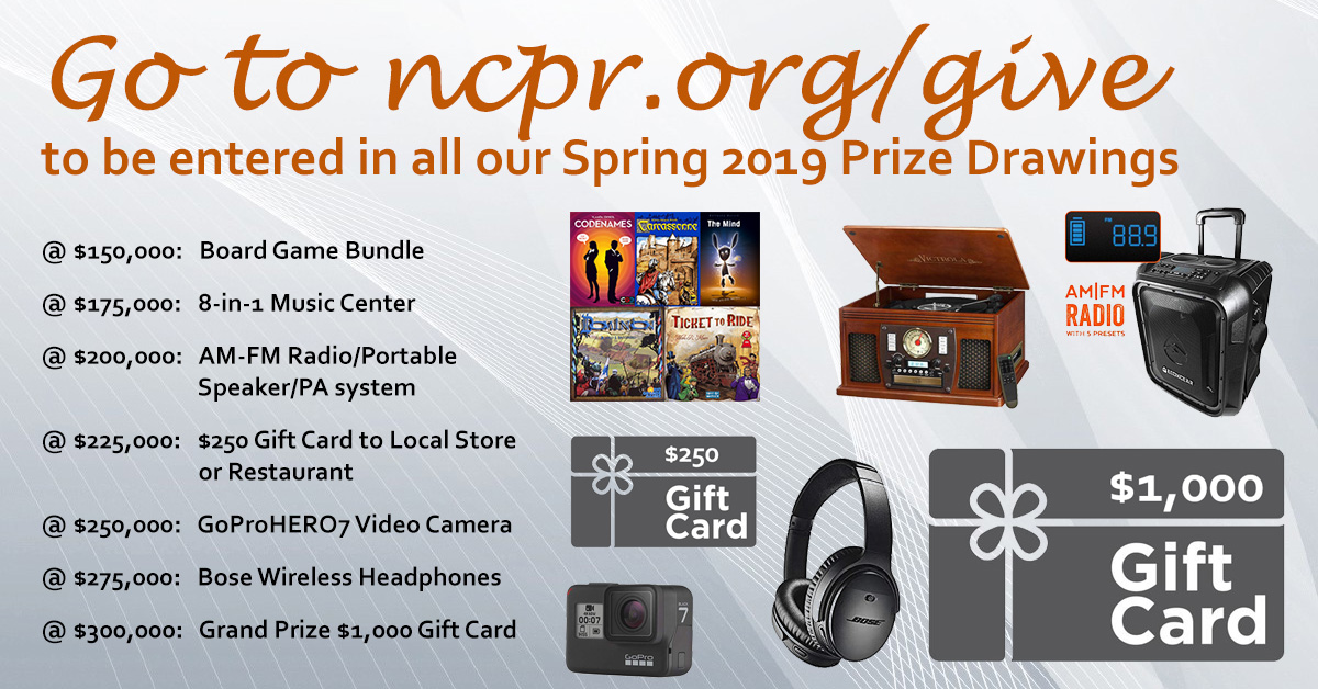 Fundraiser Prize Drawings and Official Rules | NCPR